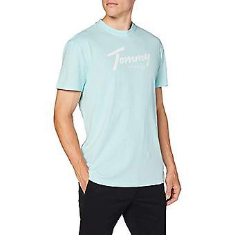 Tommy Jeans Tjm Handstil Tee Shirt, Blå, S Man(2)