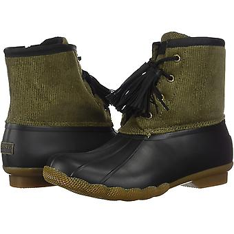 Sperry Women's Shoes Saltwater tassel Fabric Closed Toe Ankle Cold Weather Boots