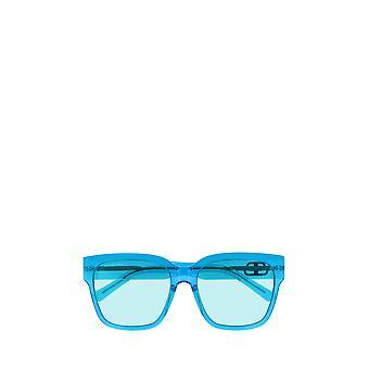 Balenciaga BB0056S óculos de sol femininos azuis transparentes