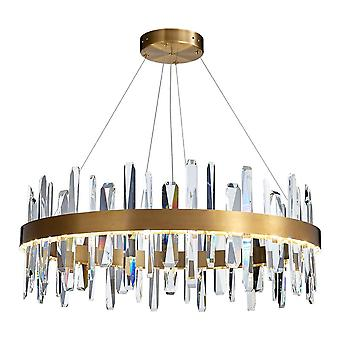 40CM Light Luxury Crystal Chandelier, LED 30W Simple Dining Room And Living Room Crystal Lamp, Villa