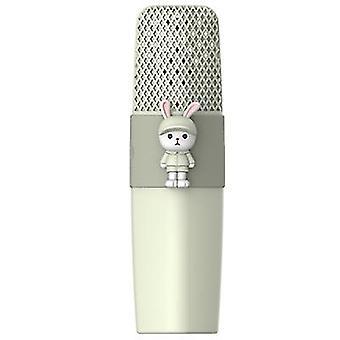 Tavşan yeşili k9 kablosuz bluetooth mikrofon ktv şarkı çocuklar çizgi film mikrofon az8580