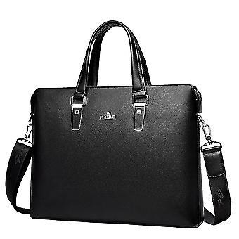 Herren Handtasche Business Bag Aktentasche Pu Leder Schultertasche