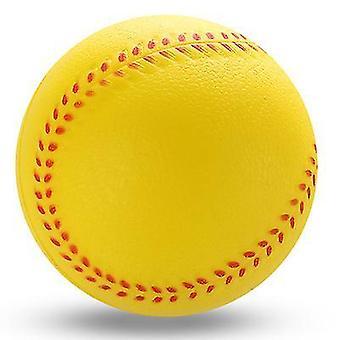 9Cm yellow pu sponge foam playing toy baseball x1543
