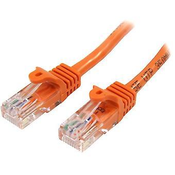 StarTech 45PAT50CMOR 0,5 m Kabel sieciowy Cat5e U/UTP (UTP) Pomarańczowy