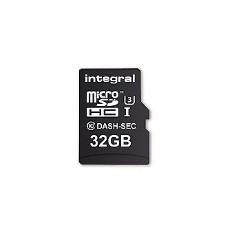 Beépített 32 GB-os micro SD kártya MicroSDHC Cl10 U3 R-95 W-60 Mb/S + Adapter Dash & Biztonsági kamera