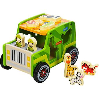 Wooden Safari Jeep Playset