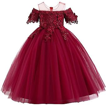 Pétale de dentelle de concours, banquet long, robe robes pour fête de mariage Set-14