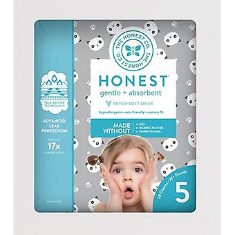 The Honest Company Diapers Pandas Size 5, 20 Count