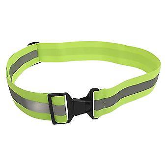 Turvavajausvyö Elastinen Säädettävä korkean näkyvyyden turvavarusteet kävelyyn ja pyöräilyyn (fluoresoiva vihreä)