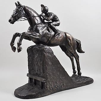 Steeple Chaser by Harriet Glen Cold Cast Bronze Sculpture