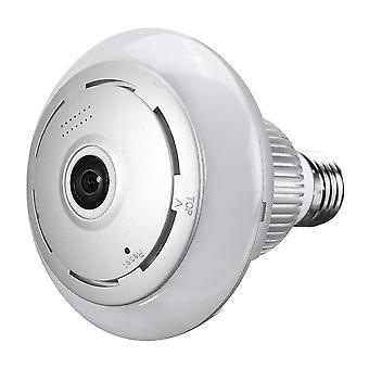 360 واي فاي بانورامية لاسلكية 960P فيش لمبة ضوء IP كاميرا مصباح APP التحكم