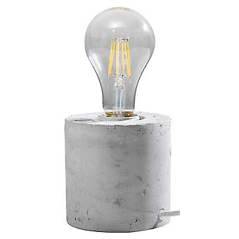 Lampada da tavolo Grigio E27