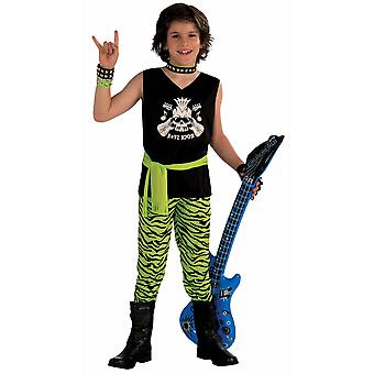 Rock Star Dude 80s Hard Rock Heavy Metal Rocker Book Week Child Boys Costume