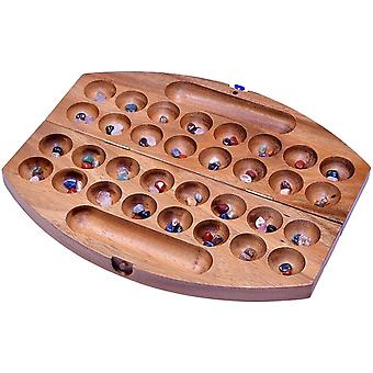 Bao - Hus - Kalaha - oval 35cm lang - Bohnenspiel - Muschelspiel - Edelsteinspiel - Steinchenspiel