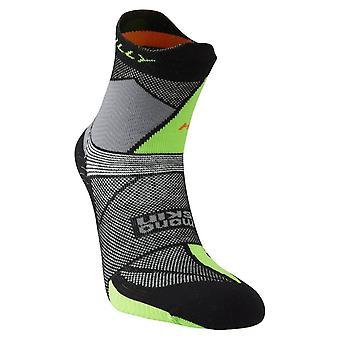 Hilly Ultra Marathon Fresh Socks - Black/Grey/Lime Green