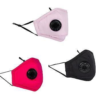 قناع مضاد للضباب 3 PCS قناع الوجه للأطفال قابلة للغسل قناع الوجه قابلة لإعادة الاستخدام واقية تنفس قناع الوجه الأولاد بنات