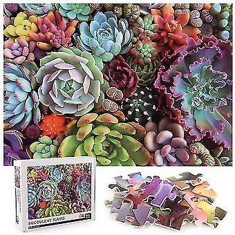 Copoz 1000Pcs Decompression Jigsaw Educational Puzzles Toys,Succulents Jigsaw