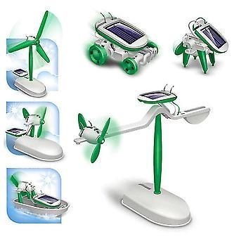 6 in 1 Solar Diy montieren Flugzeug Roboter Kit Wissenschaft Spielzeug für Kinder Modell pädagogische Geschenke