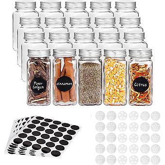 Quadratische Gewürzflaschen Glas Gewürzgläser Salzstreuer Lebensmittelbehälter Küche Gewürzbehälter mit Deckel