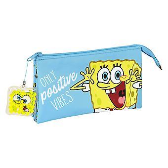 Triple Holdall Positive Vives Spongebob Yellow Light Blue