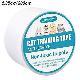 (3m) Pet Cat Anti-Scratch Tape Roll Sofa Møbler DørBeskytter Guard Sticker