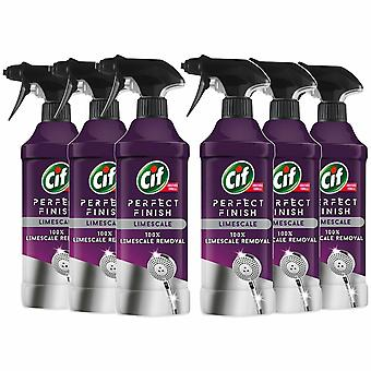 CIF Perfect Finish 100% Limescale Removal Spray, 6 Packs of 435ml