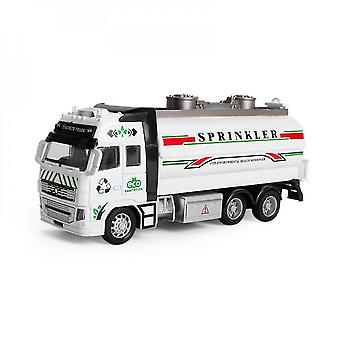 Silver diecast metal construction liquid carriage truck mz995