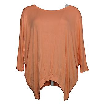 DG2 by Diane Gilman Women's Top Pleated Front Dolman Sleeve Pink 654861