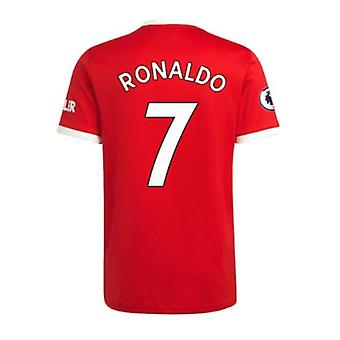 Мужская #7 Роналду Футбол Джерси Новый сезон Мнчестер 2021-2022 Юнайтед Футбол Джерси Футболки Размер S-xxl