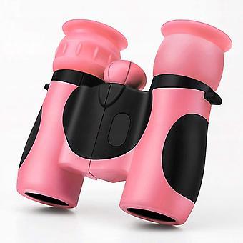 Brinquedo portátil 8 *21 Binóculos para crianças viajando (rosa)