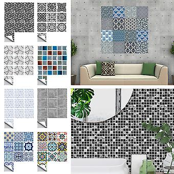 10pcs Modern Mosaic Kitchen Tile Stickers Self Adhesive Home Wall Decor Decals