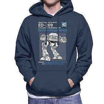 RoboCop ED209 Service en reparatie handleiding mannen de Hooded Sweatshirt