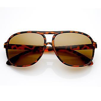Classic Traditional Square Frame Plastic Aviator Sunglasses