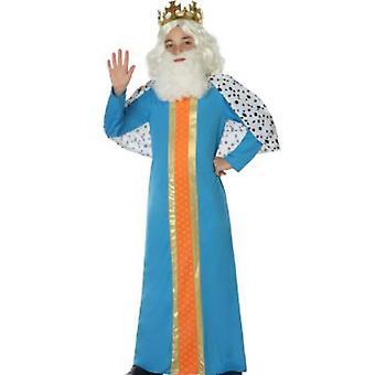Costume pour enfants costumes homme sage/roi enfant bleu
