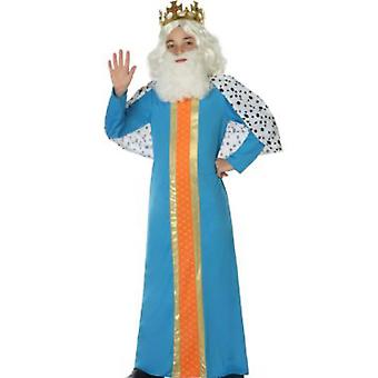 Børns kostumer klog mand/konge barn kostume blå