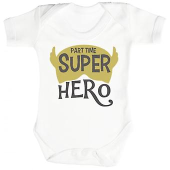 Spoilt Rotten Part Time Super Hero Short Sleeve Baby Bodysuit