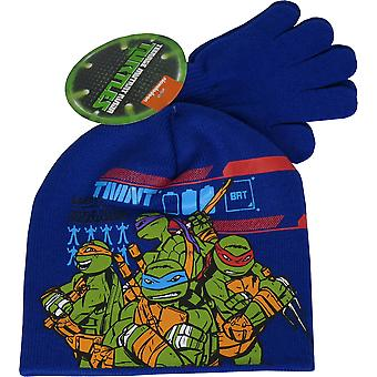 Nickelodeon Ninja Turtles Winter 2 delige set muts, Hat & handschoenen