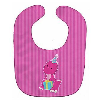 Carolines Treasures  BB8921BIB Dinosaur Pink Baby Bib
