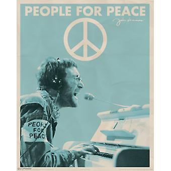جون لينون--الناس لطباعة الملصق ملصق السلام