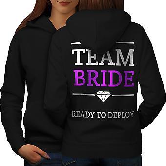 チームの花嫁楽しい女性 BlackHoodie バック |Wellcoda