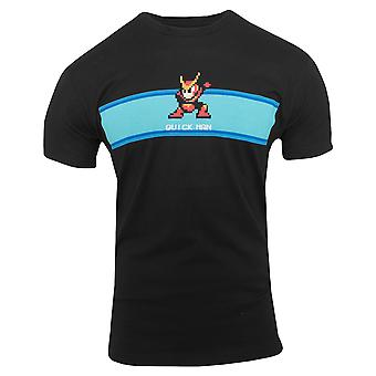 Capcom Quick Man Stage Start Premium Fitted T-Shirt - Black
