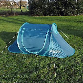 New Eurohike Camping 2 Person Pop Up 200 Tent Blue