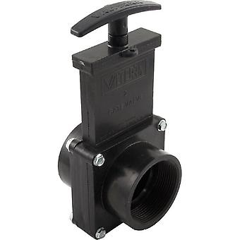 """Valterra Products 7207 ABS Gate Valve Black 2"""" FPT"""