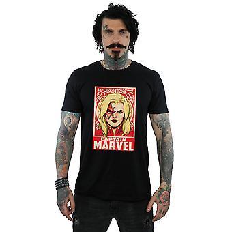 Förundras över Captain Marvel prydnad t-tröja
