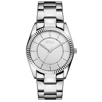 s.Oliver Damen-Armbanduhr Analog Quarz SO-15136-MQR