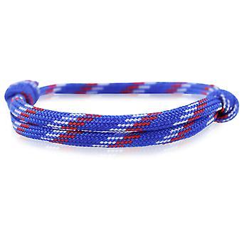 Patrón pulsera surfer banda nodo maritimes pulsera de nylon azul, blanco y rojo 6856