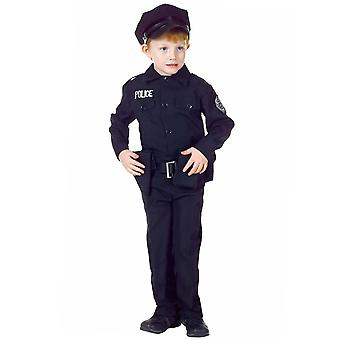 Police Officer Cops Policeman Uniform Deluxe Dress Up Boys Costume