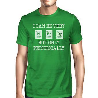 Nerdy periodiek Mens groene grappige Nerd T-Shirt unieke School Gift