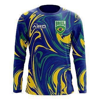 2020-2021 Brazilia Cu mânecă lungă Departe Concept Fotbal Shirt