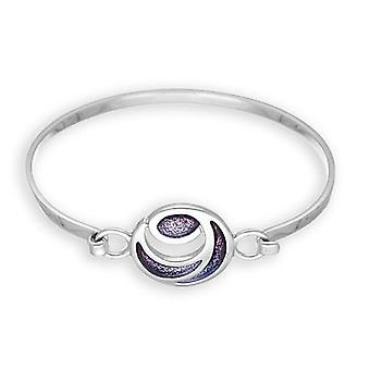 Sterling Silver Traditional Scottish New Dawn Hand Crafted Bangle - EBG35